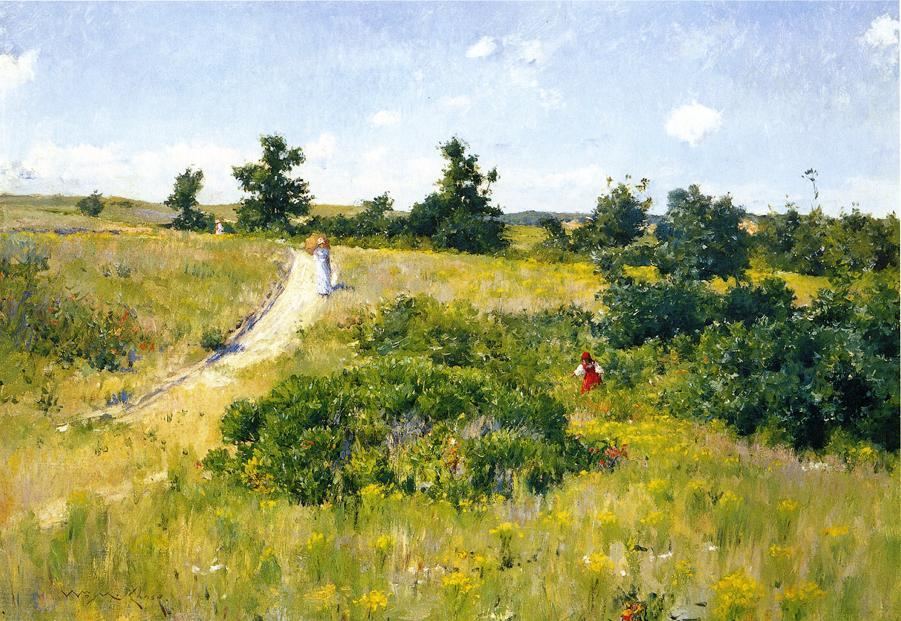 famous painting Shinnecock Landscape with Figures of William Merritt Chase
