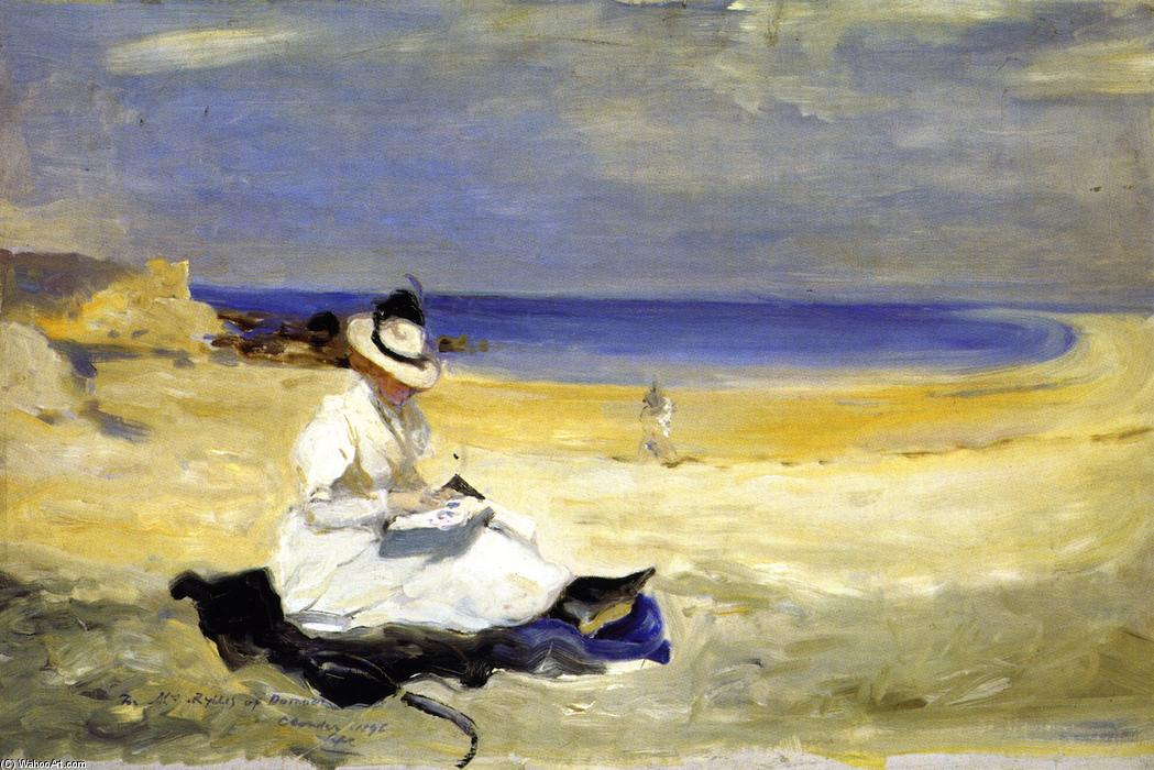 famous painting The Shore at Dornoch of Charles Edward Conder