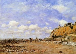 Eugène Louis Boudin - The Shore at Villerville