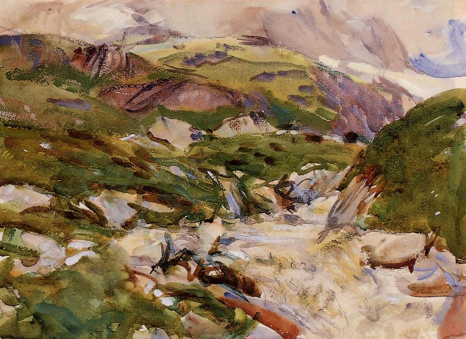 famous painting The Simplon of John Singer Sargent