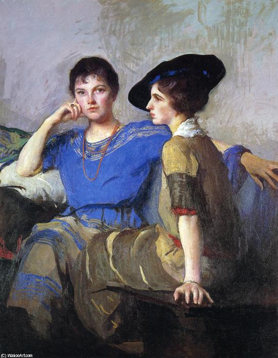 famous painting The Sisters of Edmund Charles Tarbell