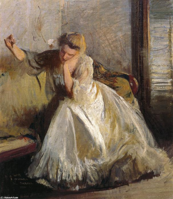 famous painting A Sketch of Edmund Charles Tarbell