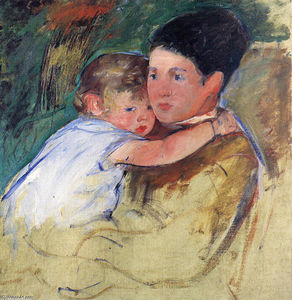Mary Stevenson Cassatt - Sketch of Anne and Her Nurse