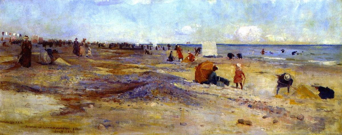 famous painting Sketch of Littlehapton Beach of Charles Edward Conder