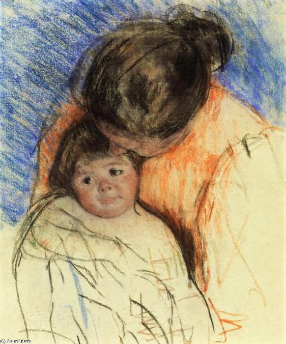 famous painting Sketch of Mother Looking down at Thomas of Mary Stevenson Cassatt