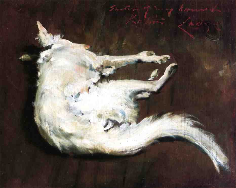famous painting A Sketch of My Hound Kuttie of William Merritt Chase