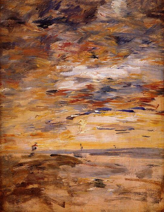 famous painting Sky at Sunset of Eugène Louis Boudin