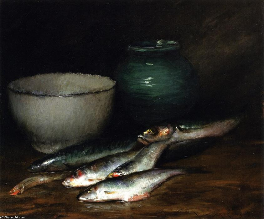 famous painting A Small Pile of Fish of William Merritt Chase