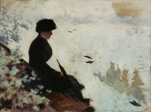 Giuseppe De Nittis - Snow Effects (also known as Effet de neige)