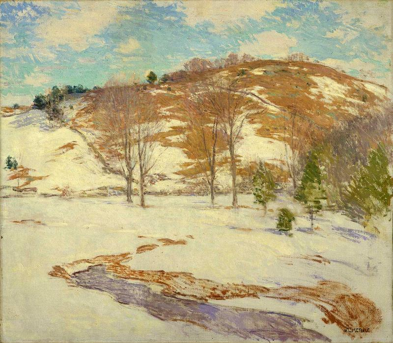 famous painting Snow in Mountains of Willard Leroy Metcalf