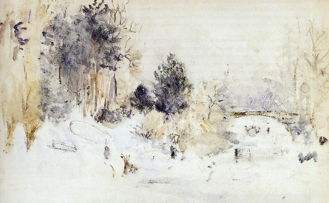 famous painting Snowy Landscape (also known as Frost) of Berthe Morisot