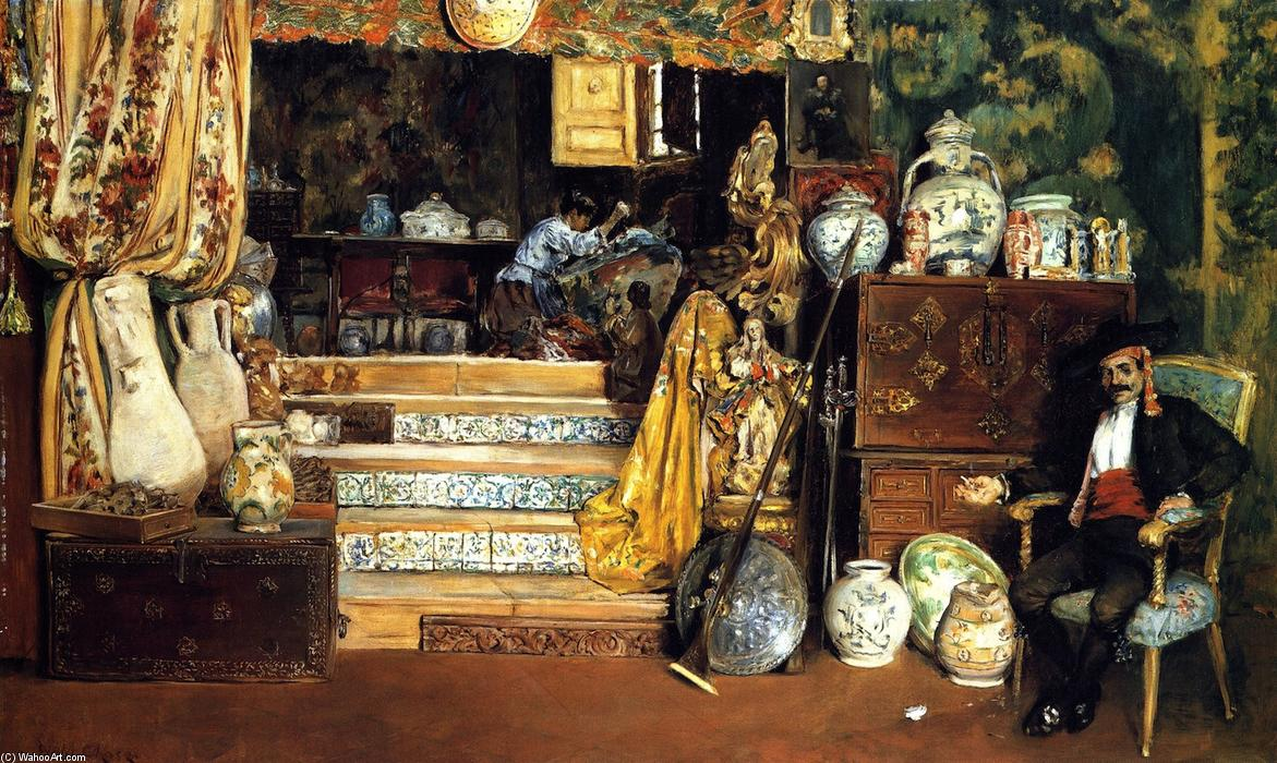 famous painting Spanish Bric-a-Brac Shop (also known as A Spanish Curiosity Shop) of William Merritt Chase