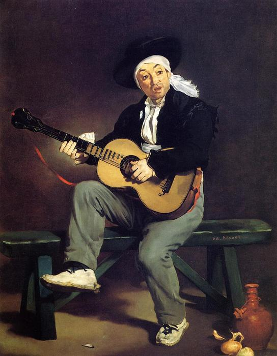 famous painting The Spanish Singer (also known as Guitarrero) of Edouard Manet