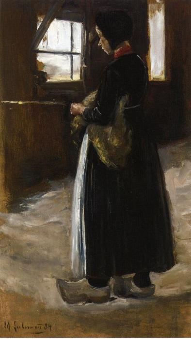 famous painting Spinner of Max Liebermann