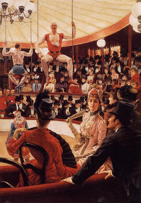 famous painting The Sporting Ladies (also known as The Amateur Circus) of James Jacques Joseph Tissot