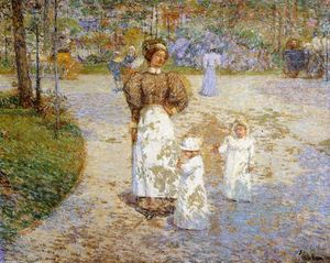 Frederick Childe Hassam - Spring in Central Park (also known as Springtime)