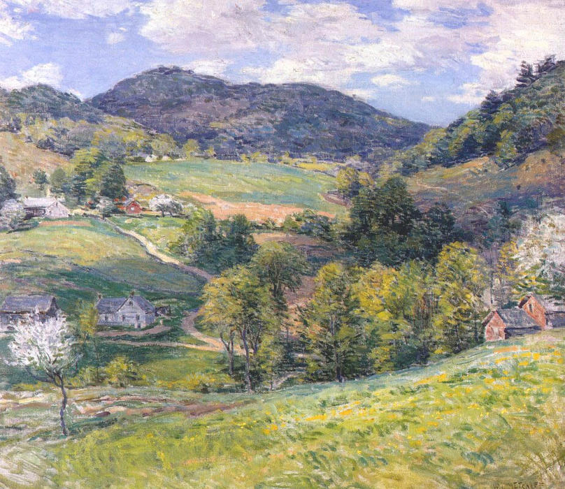 famous painting Spring in the Valley of Willard Leroy Metcalf