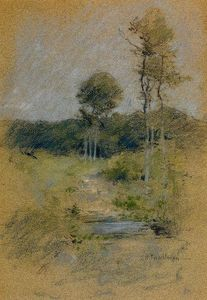John Henry Twachtman - Spring Landscape (also known as Spring in Marin County)