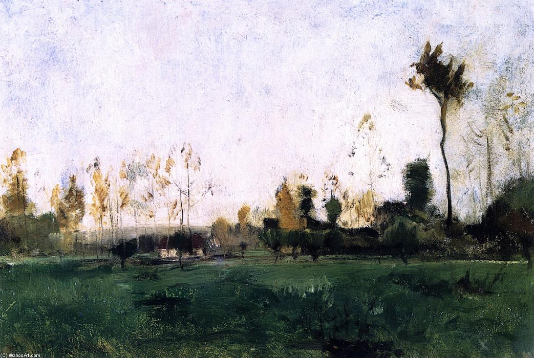 famous painting Spring Landscape of John Henry Twachtman