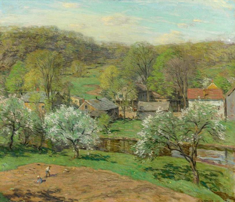 famous painting Spring Planting of Willard Leroy Metcalf