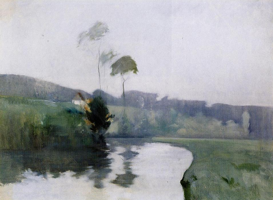 famous painting Springtime of John Henry Twachtman