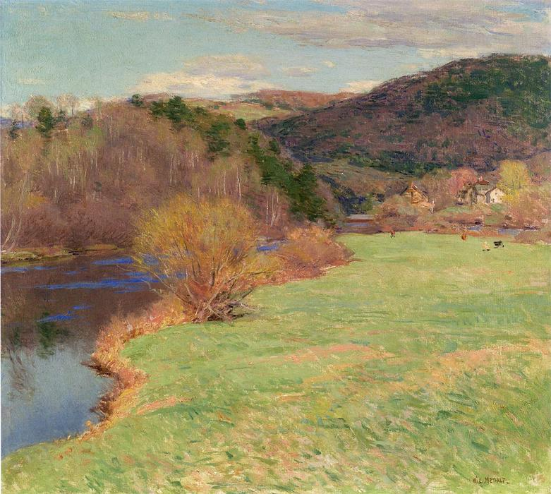 famous painting Springtime along the River of Willard Leroy Metcalf
