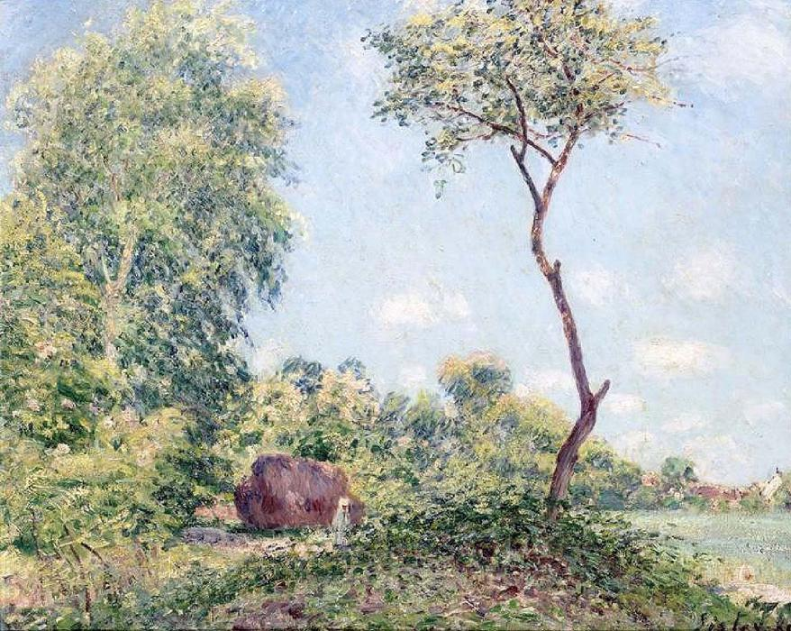 famous painting Spring with Acacias of Alfred Sisley
