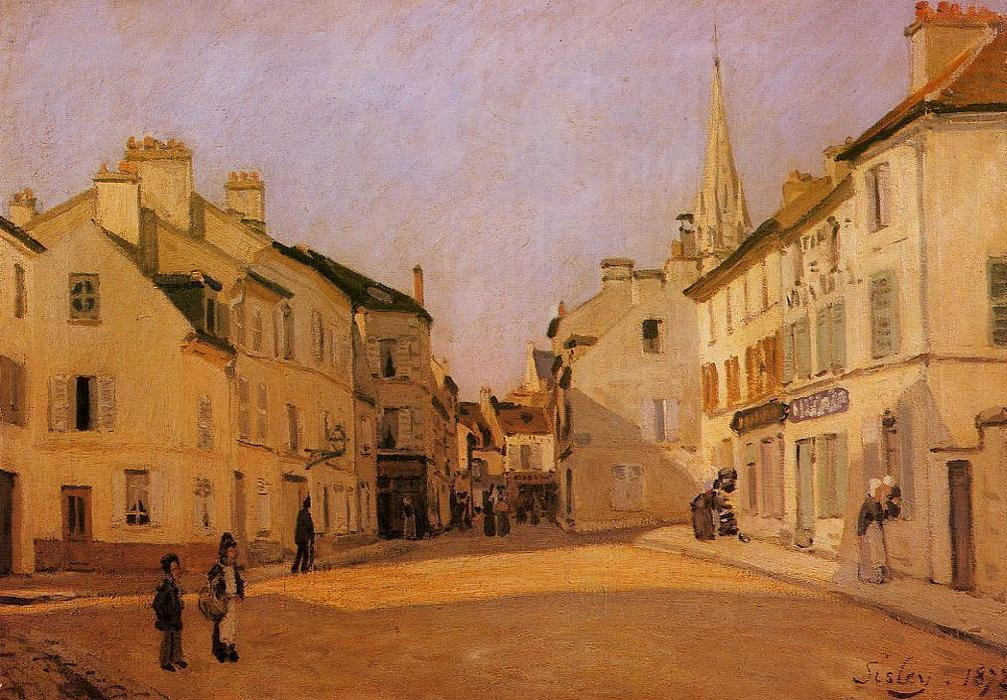 famous painting Square in Argenteuil (also known as Rue de la Chaussee) of Alfred Sisley