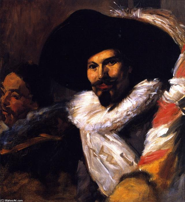 famous painting The Standard Bearer from 'The Banquet of the Officers of the St George Civic Guard' (after Velazquez of John Singer Sargent