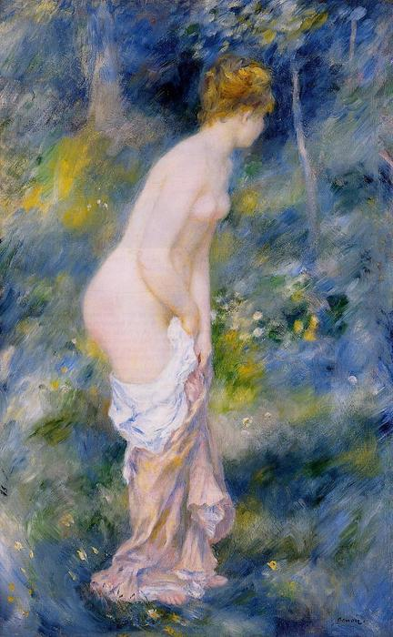 famous painting Standing Bather of Pierre-Auguste Renoir