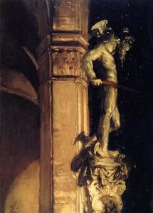 John Singer Sargent - Statue of Perseus by Night