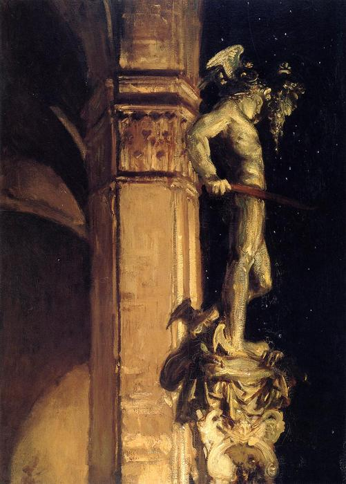 famous painting Statue of Perseus by Night of John Singer Sargent