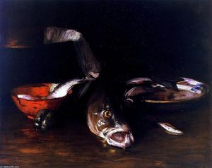 William Merritt Chase - Still LIfe Fish (also known as Still LIfe with Fish)