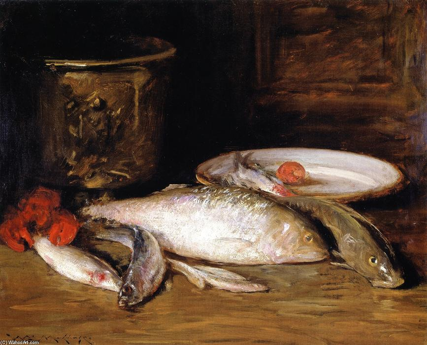 famous painting Still LIfe - Fish (also known as Bass and Still LIfe) of William Merritt Chase