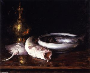 William Merritt Chase - Still Life: Fish (also known as Still LIfe with Fish)