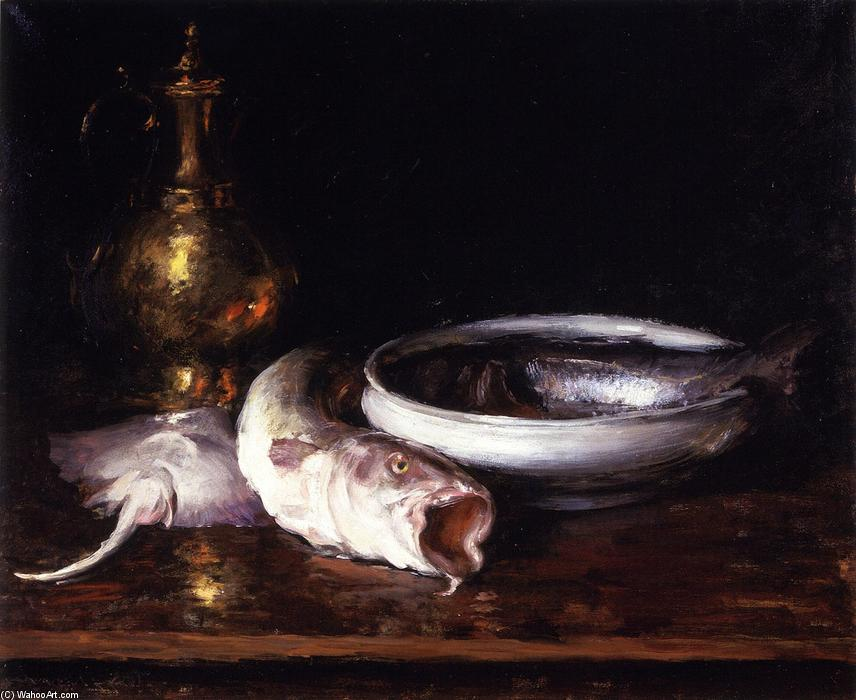 famous painting Still Life: Fish (also known as Still LIfe with Fish) of William Merritt Chase