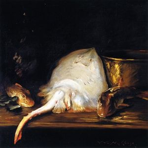 William Merritt Chase - Still Life: Fish (also known as Still LIfe with Fish, A Skate)
