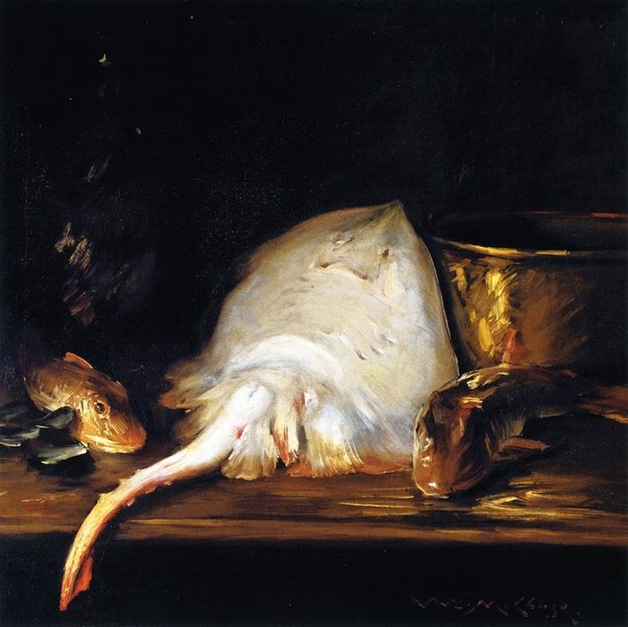 famous painting Still Life: Fish (also known as Still LIfe with Fish, A Skate) of William Merritt Chase