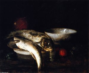 William Merritt Chase - Still Life: Fish