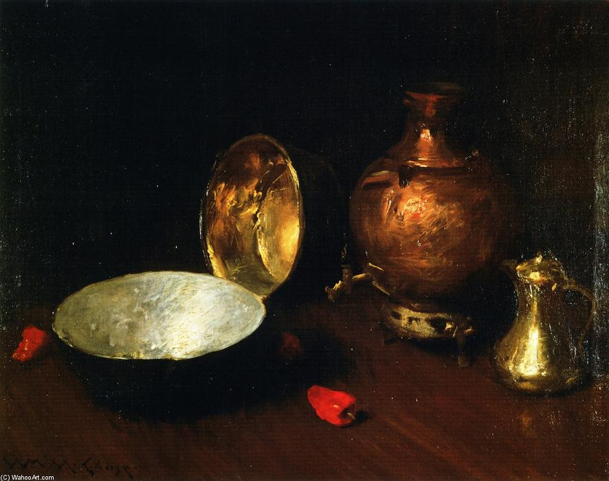 famous painting Still LIfe: Fish of William Merritt Chase