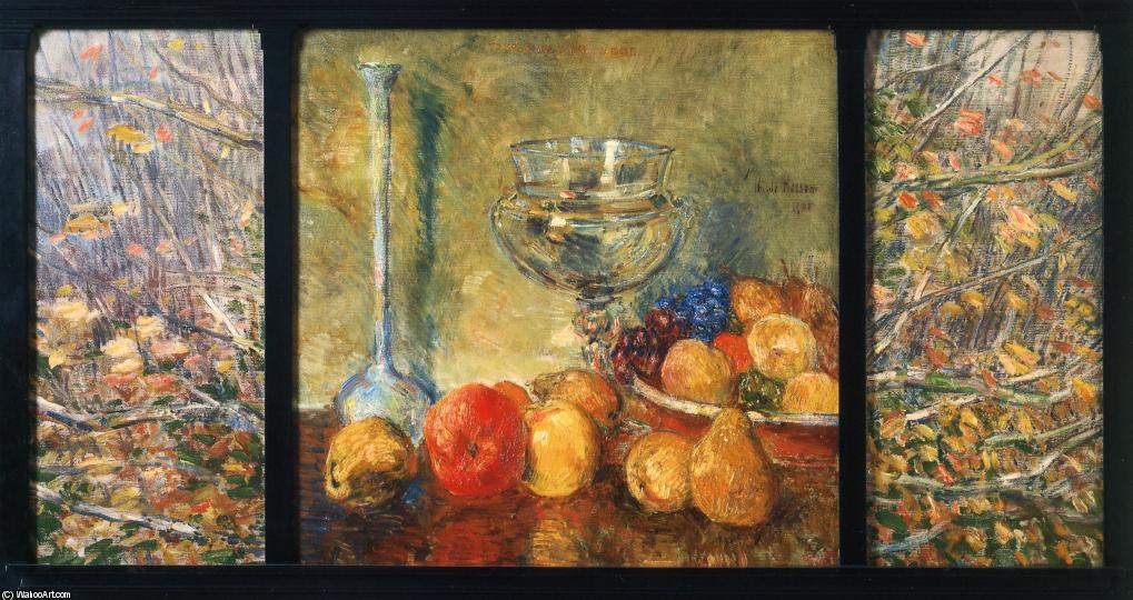 famous painting Still Life, Fruits of Frederick Childe Hassam