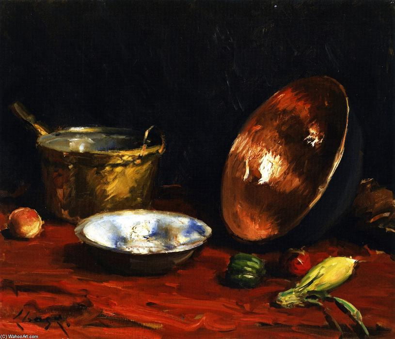 famous painting Still Life Pans and Vegetables of William Merritt Chase