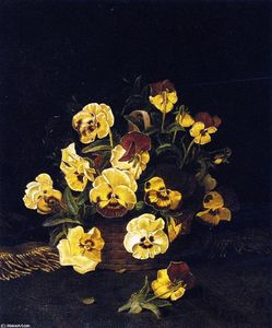 William Mason Brown - Still LIfe Pansies