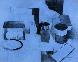 Roger De La Fresnaye - Still Life, Tin of Tea and Pot of Tobacco