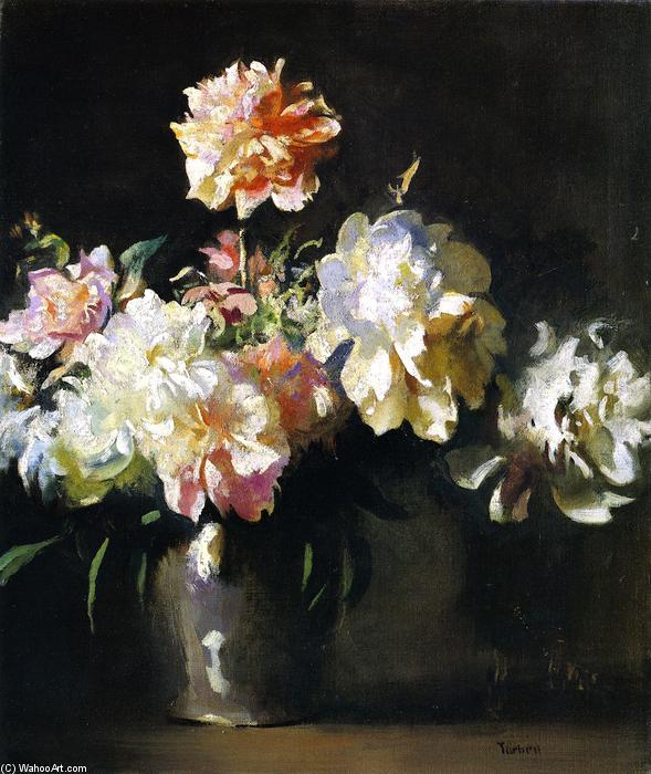famous painting Still LIfe: Vase of Peonies of Edmund Charles Tarbell