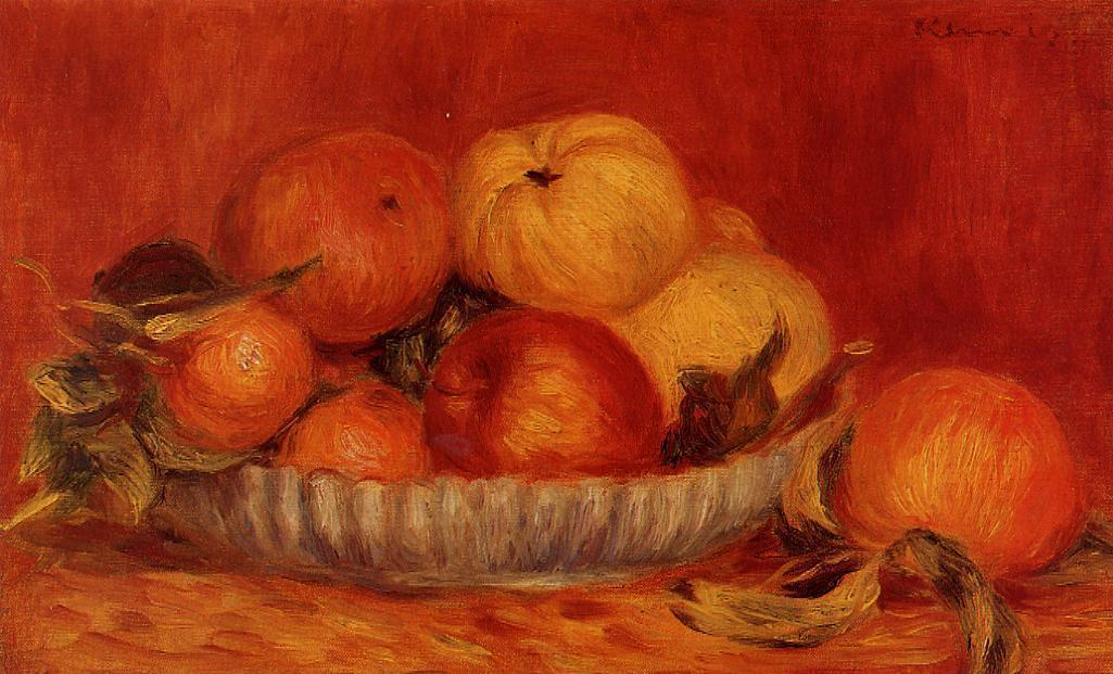 famous painting Still Life with Apples and Oranges of Pierre-Auguste Renoir