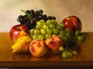 Robert Spear Dunning - Still LIfe with Apples, Grapes, Peaches and Pear