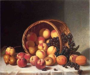 John F Francis - Still Life with a Basket of Fruit