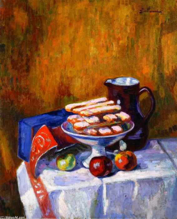 famous painting Still LIfe with Biscuits of Jean Baptiste Armand Guillaumin