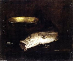 William Merritt Chase - Still Life with Fish and Pot